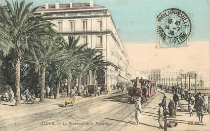"""CPA ALGERIE  """"Alger, le boulevard de la République"""""""