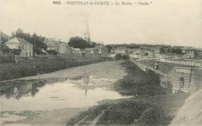 """.CPA FRANCE 85  """" Fontenay le Comte, La rivière Vendée"""""""
