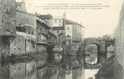 """.CPA FRANCE 85  """" Fontenay le Comte, Le pont des Sardines"""""""