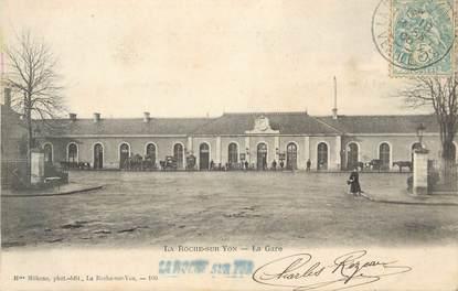 """.CPA FRANCE 85  """" La Roche sur Yon, La gare"""""""