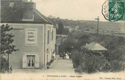 """CPA FRANCE 77  """"Fontaine le Port, Hôtel Godin"""""""