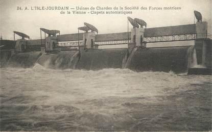 """. CPA  FRANCE 86 """" L'Isle Jourdain, Usines de Chardes de la Sté des forces motrices de la Vienne"""""""