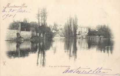 """. CPA  FRANCE 86 """" Montmorillon, Vue sur la Gartempe"""""""