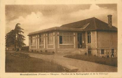 """. CPA  FRANCE 86 """" Montmorillon, L'hospice, pavillon de radiographie et de chirurgie"""" / RAYON X"""