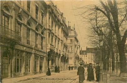 """CPA FRANCE 25 """"Besançon, rue de la Préfecture"""""""