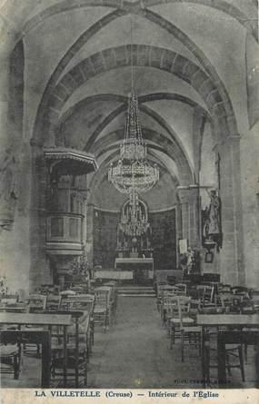 """. CPA  FRANCE 23 """"La Villetelle, Intérieur de l'église"""""""