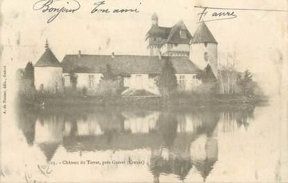 """. CPA  FRANCE 23 """"Environs de Guéret, Château du Terret """""""