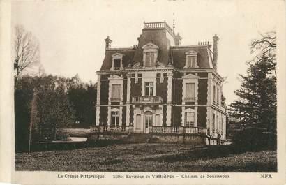 """. CPA  FRANCE 23 """" Environ de Vallières, Château de Souriavoux"""""""