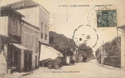 """. CPA  FRANCE 32 """"L'Isle Jourdain, Avenue de la gare"""""""