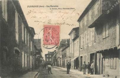 ". CPA FRANCE 32 ""  Fleurance,  Rue Marselan"""
