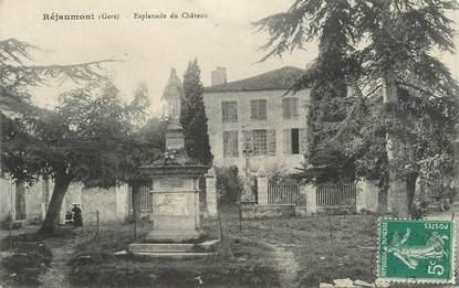 """. CPA FRANCE 32 """" Réjaumont, Esplanade du château"""""""