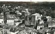 """32 Ger . CPSM FRANCE 32 """"Riscle, L'église et l'avenue de l'Adour"""""""