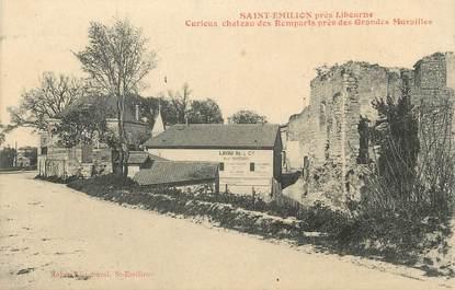 """. CPA FRANCE 33 """"St Emilion, Curieux château des remparts  près des grandes murailles"""""""