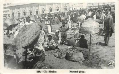 "CARTE PHOTO PAKISTAN ""Le vieux marché"""