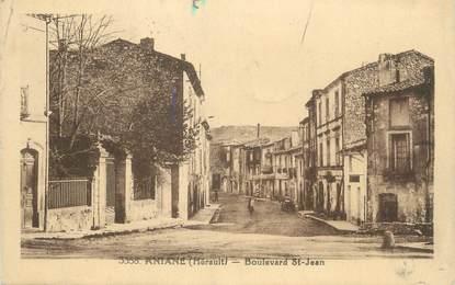 ". CPA FRANCE 34 ""Aniane, Boulevard St Jean"""