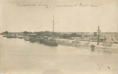 """CARTE PHOTO EGYPTE """"Port Said, Canal de Suez"""""""