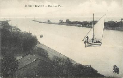 """. CPA FRANCE 34 """"Le Grau d'Agde, Entrée du port"""""""