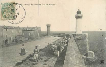 """. CPA FRANCE 34 """"Agde, Intérieur du Fort de Brescou"""""""