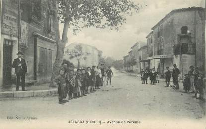 ". CPA FRANCE 34 ""Belarga, Avenue de Pézénas"