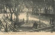 "34 Herault . CPA FRANCE 34 ""Bédarieux, Place et Statue Cot"""