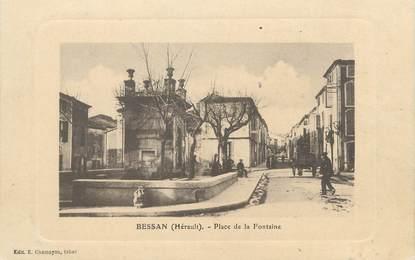""". CPA FRANCE 34 """"Bessan, Place de la fontaine"""""""