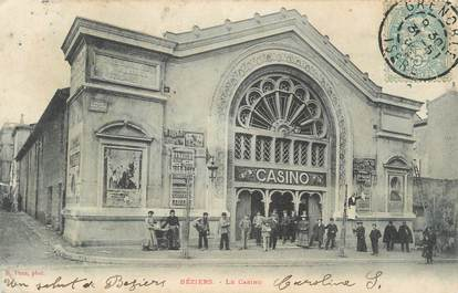 ". CPA FRANCE 34 ""Béziers, Le casino"""
