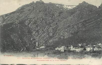 """.CPA FRANCE 34 """" Colombières, Le Caroux, La tour féodale"""""""