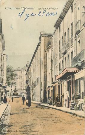 """.CPA  FRANCE 34 """" Clermont L'Hérault, La rue nationale"""""""