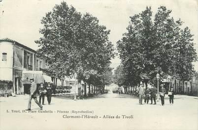 ".CPA  FRANCE 34 "" Clermont L'Hérault, Allées du Tivoli"""