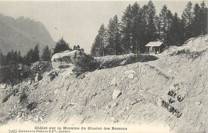 """CPA ALPINISME """"Chalet sur la Moraine du Glacier des Bossons"""""""