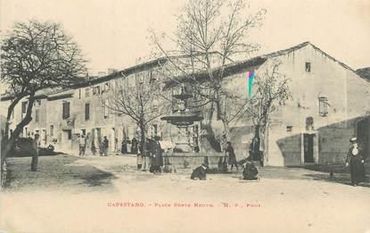 ".CPA  FRANCE 34 ""Capestang, Place porte neuve"""