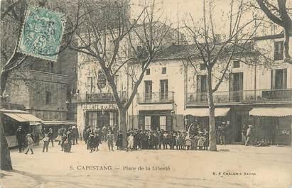 """.CPA  FRANCE 34 """"Capestang, Place  de la Liberté"""""""