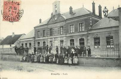 "CPA FRANCE 77  ""Etrepilly, Ecole"""