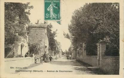 ".CPA  FRANCE 34 ""Cournonterral, Avenue de Cournonsec"""