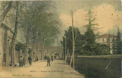 ".CPA  FRANCE 34 ""Cruzy, Avenue de St Chinian """