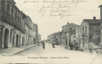 """.CPA  FRANCE 34 """"Frontignan, Avenue de la gare"""""""