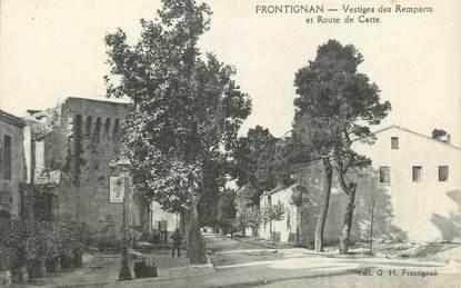 """.CPA  FRANCE 34 """"Frontignan, Vestiges des remparts et route de  Cette"""""""