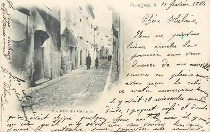 ".CPA  FRANCE 34 ""Frontignan, Rue du Cannau"""