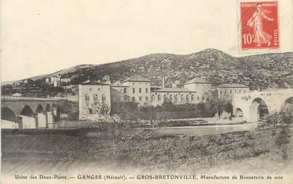 """.CPA FRANCE 34 """"Ganges, Gros Bretonville, Manufacture de bonneterie de soie"""""""
