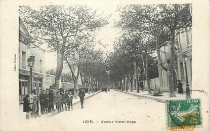 ".CPA  FRANCE 34 ""Lunel, Avenue Victor Hugo"""