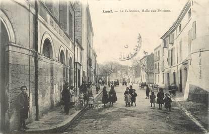 """.CPA  FRANCE 34 """"Lunel, Le Valatoura, Halle aux poissons"""""""