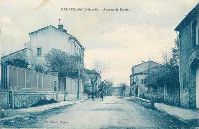 """.CPA  FRANCE 34 """" Maureilhan, Avenue de Béziers"""""""