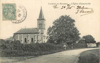 """CPA FRANCE 77  """"Env. de Malnoue, Eglise d'Emerainville"""""""