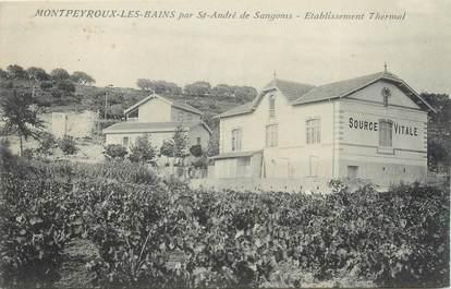 """.CPA  FRANCE 34 """" Montpeyroux les Bains,  Etablissement  thermal """""""