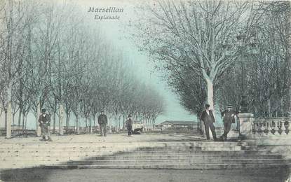 """.CPA  FRANCE 34 """"  Marseillan, Esplanade"""""""