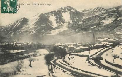 """CPA FRANCE 06 """" Sospel,  sous la neige"""""""