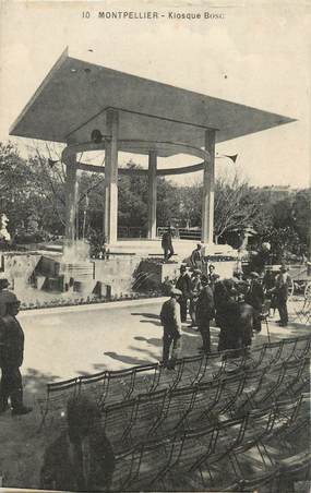 """.CPA  FRANCE 34 """"   Montpellier, Kiosque Bosc"""""""