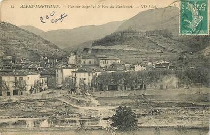 """CPA FRANCE 06 """" Sospel, une vue et le fort du Barbonnet"""""""