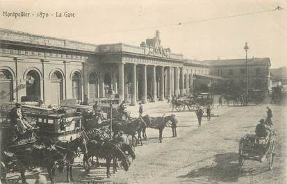 ".CPA  FRANCE 34 ""   Montpellier, La gare"""