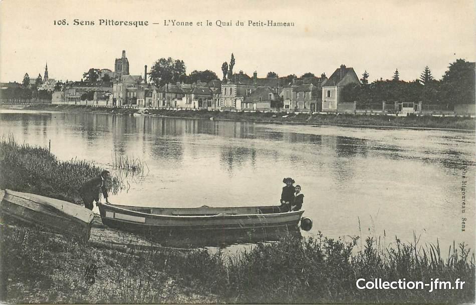 Cpa france 89 sens l 39 yonne et le quai du petit hameau for Sens 89 yonne
